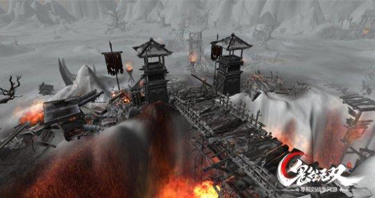"""极限雪域 初入大逃杀战场   当玩家进入绝地大逃杀战场,画面切换至另一世界——一片茫茫白雪的孤岛,玩家首先要习惯3D视角,熟悉全新的孤岛地图""""极限雪域""""。大逃杀战场以圆形PK台呈现,圆盘向外有六条道路,六条通道彼此互相通达。大逃杀战场上将随机出现许多BUFF刷新点,也可以称之为资源掠夺点,所有玩家的名字将被赋予全新的昵称。不过令人""""绝望""""的是,玩家在大逃杀战场内不能建团或者组队,只能凭借一己之力""""吃鸡""""。"""